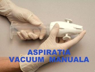 Aspiratia vacuum manuala